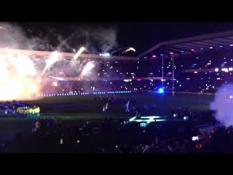 Scotland rugby team entrance at Murrayfield 23/11/14