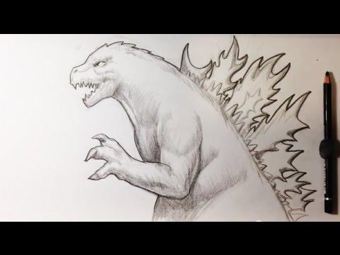 Drawing Godzilla Demo - Easy Drawings