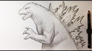Drawing Godzilla Demo - Easy Drawings