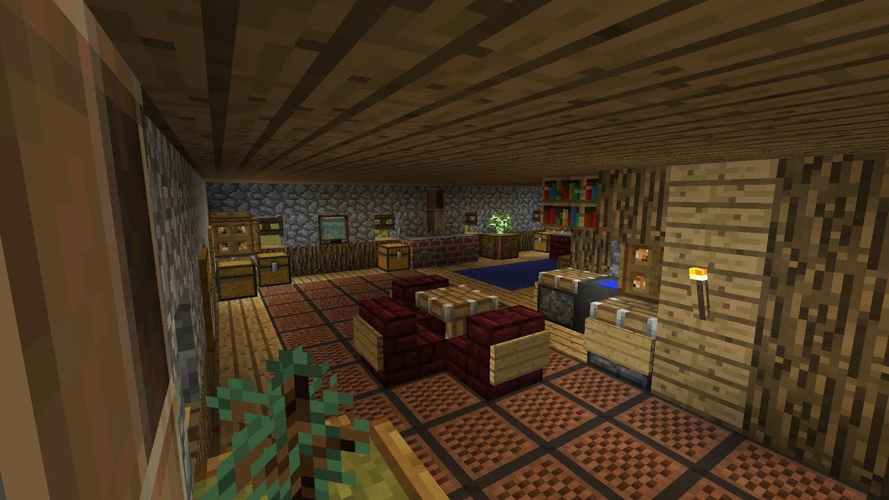 Minecraft medieval home design interior part 41 season for Minecraft house interior living room