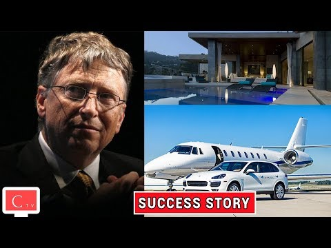 Bill Gates Success Story ★ Biography ★ Life Story and Luxury Lifestyle - 동영상