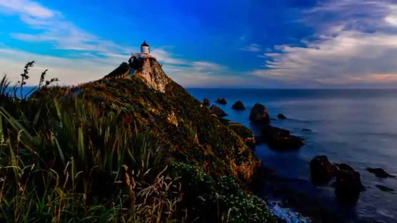 Fall Watch Wallpapers Nugget Point Lighthouse Sunset To Moonrise Youtube
