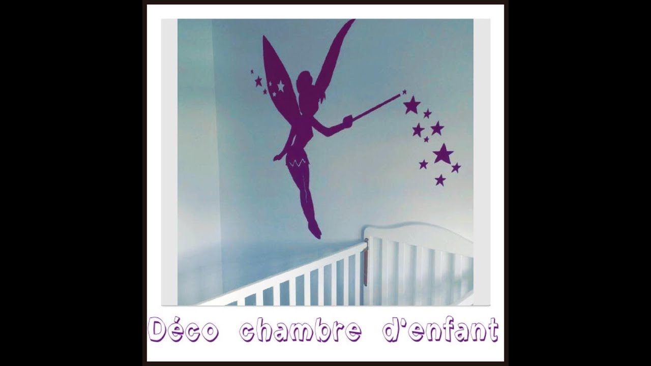 d co chambre enfant f e clochette fa on sticker