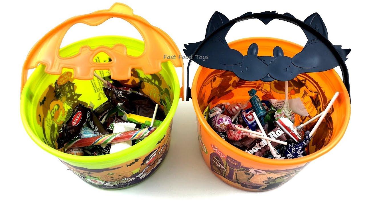mcdonald's mr potato head halloween buckets complete set 2 kids meal