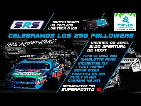 iRacing | SRS 300 Followers | Charlotte road con Ford Falcon