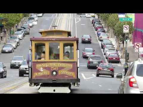 End Of The Line Of San Francisco Cable Car Ride On California Street Line