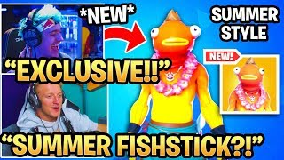Streamers Réagir à 'NEW' Summer Fishstick Skin Style 'EXCLUSIVE' MOMENTS FORTNITE