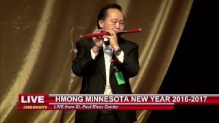 3 HMONG NEWS: Peter Lor plays flute at Hmong MN New Year.
