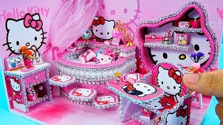 DIY Miniature Dollhouse Room ~ Hello Kitty Room Decor ~ 10 Minute DIY Doll Crafts #24