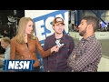Ryan Blaney, Bubba Wallace Hang Out At Super Bowl LI Radio Row