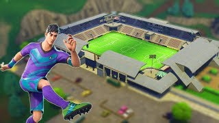 NEW SKINS AND NEW WORLD FOOTBALL FIELD IN FORTNITE!