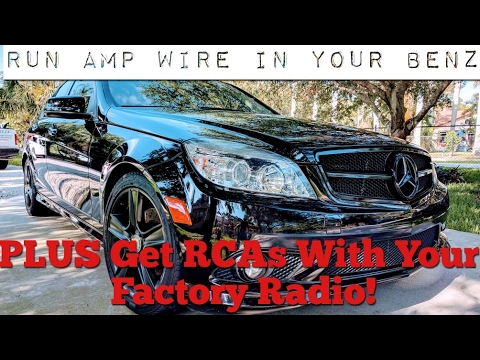 Wire a Mercedes Benz for an Amplifier using Factory Radio - YouTube