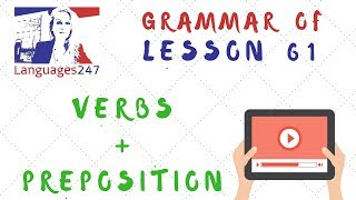 Grammar Practice   English Course Online 61   Verbs   Preposition