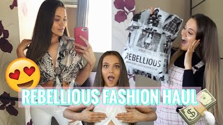 REBELLIOUS FASHION STYLE WITH ME HAUL! 😍