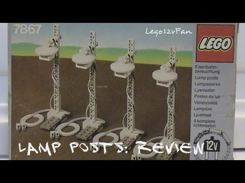 Lego 7867 12V Train Light Posts: Review
