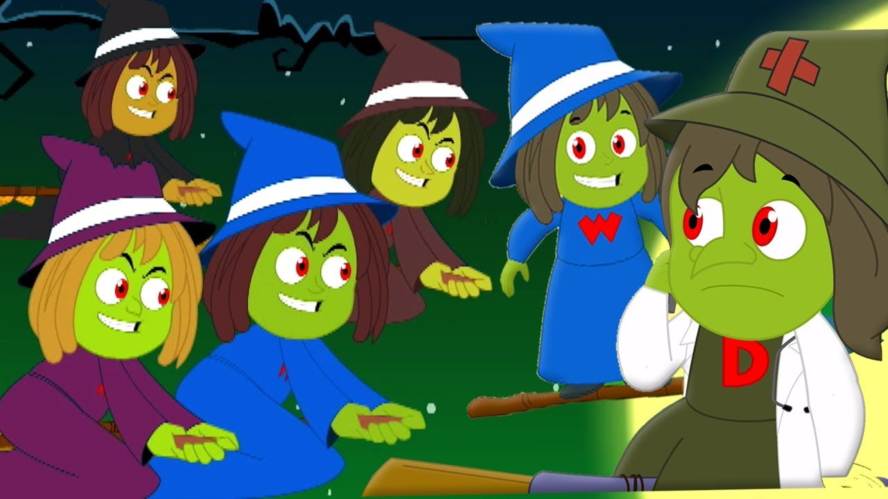 Lima Witches Jahat | Lagu Halloween Untuk Anak-Anak | Five Wicked Witches | Kids Tv Indonesia