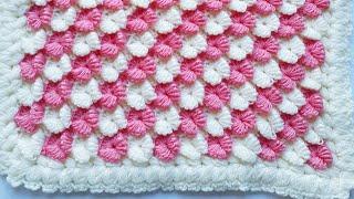 Köşeden başlamalı kelebek lif battaniye modeli