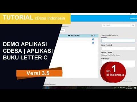 Demo Aplikasi Cdesa Buku Letter C Viral Indonesia Aplikasi Desa Youtube
