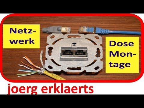 Netzwerkdose anschließen /patchen UAE-Dose LAN Dose verkabeln RJ45 Tutorial Nr.151