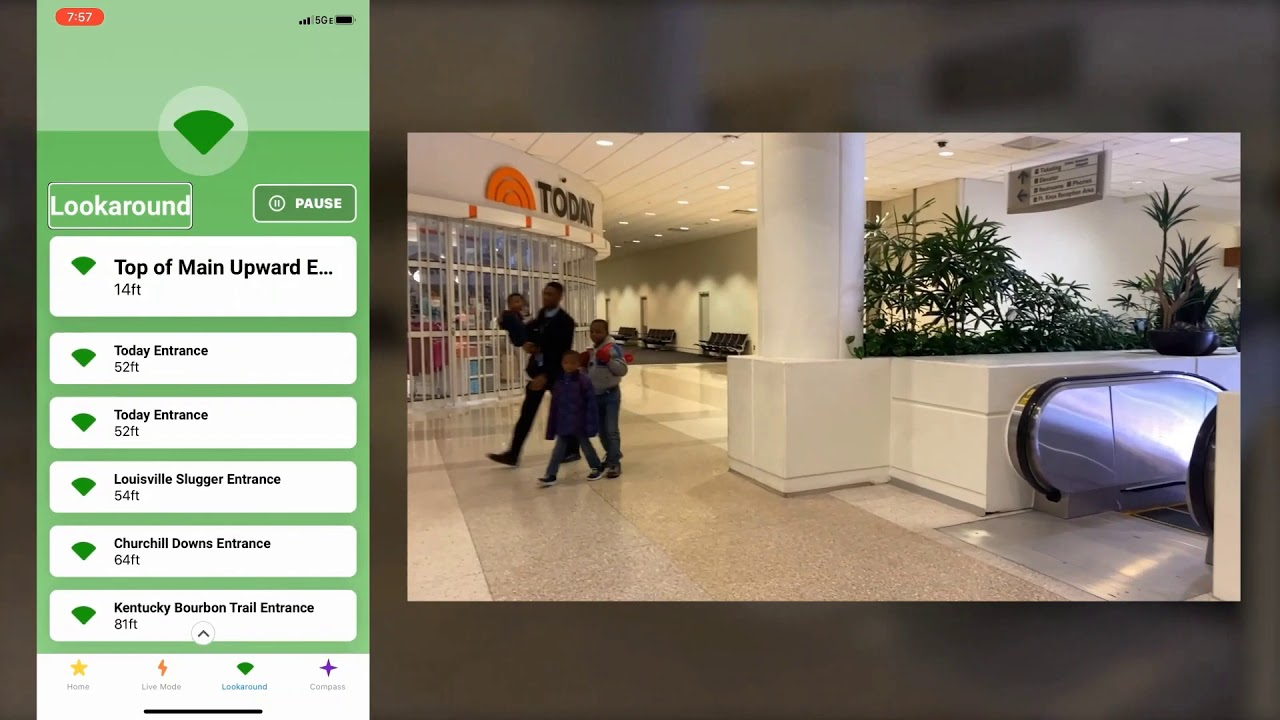 Watch as a user test our indoor navigation technology at Louisville Airport.