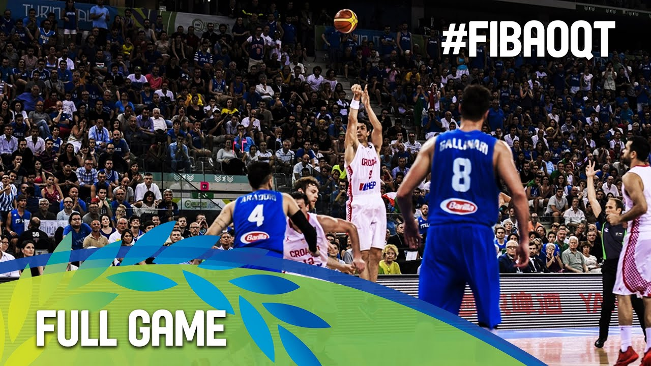 Croatia v Italy - Final - Full Game - 2016 FIBA Olympic Qualifying Tournament
