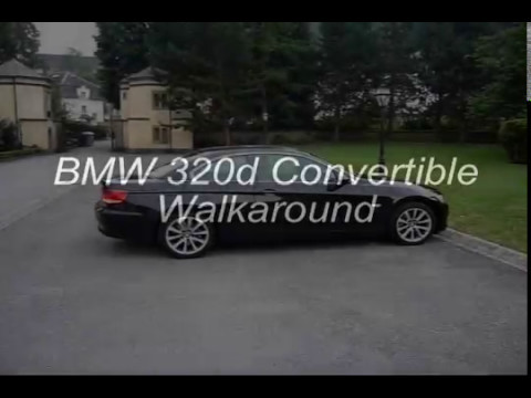 2009 bmw 320d convertible walkaround youtube. Black Bedroom Furniture Sets. Home Design Ideas