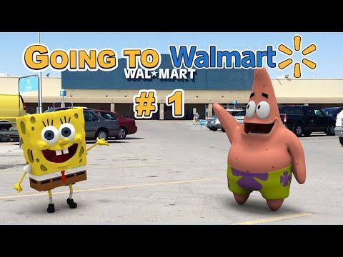SpongeBob In Real Life 43 - Going To Walmart # 1