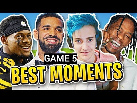Game 5: Ninja Plays Squads Fortnite W/ Drake, Travis Scott, Juju [March 14th]
