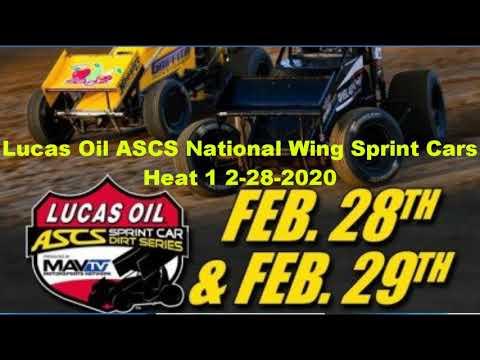 ASCs wing Sprint heat 1 canyon speedway park 2-28-2020