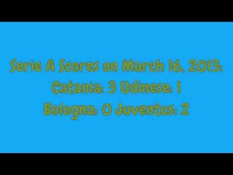 Serie a scores 3/16/13