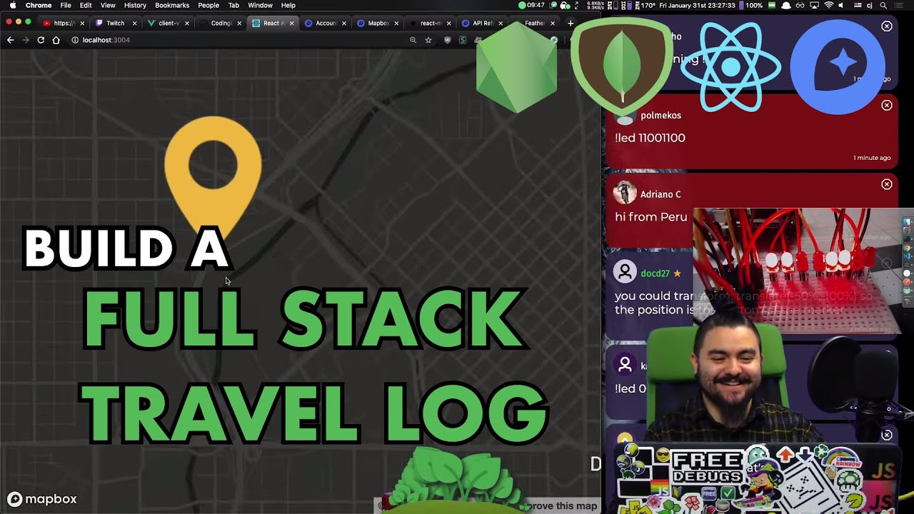 Download 📍 Build a Full Stack Travel Log App with Node.js, Express, MongoDB, React + Hooks and Mapbox