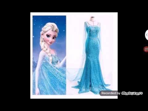 fb5e796851 Vestido de Elsa (Frozen  una aventura congelada) - YouTube