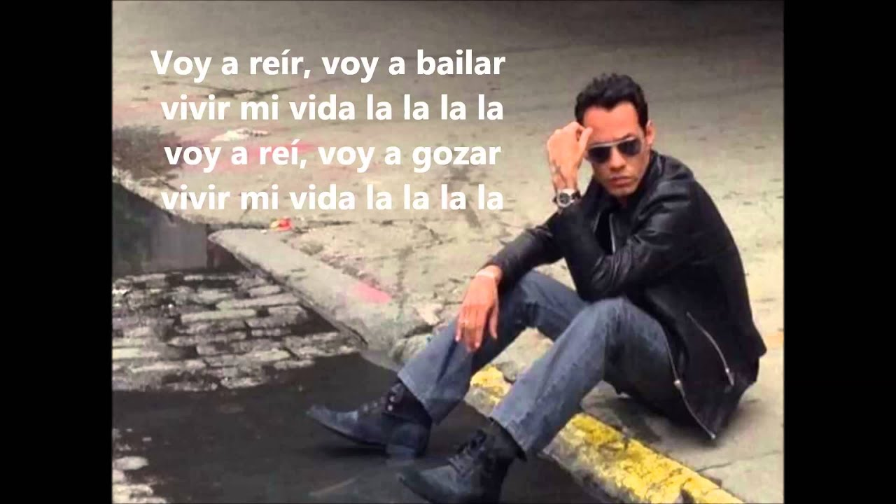 Marc Anthony-Vivir mi Vida lyrics - YouTube