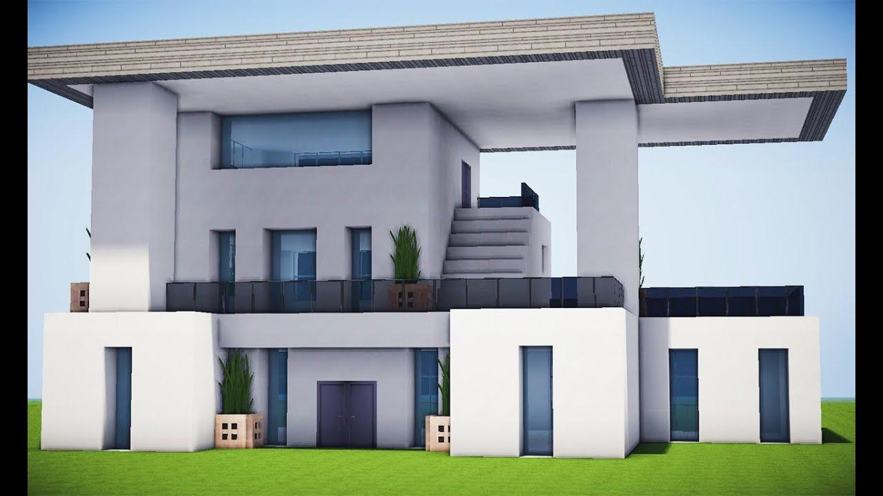 Minecraft como fazer uma casa modern ssima 1 youtube for Casa moderna 10 x 10 minecraft