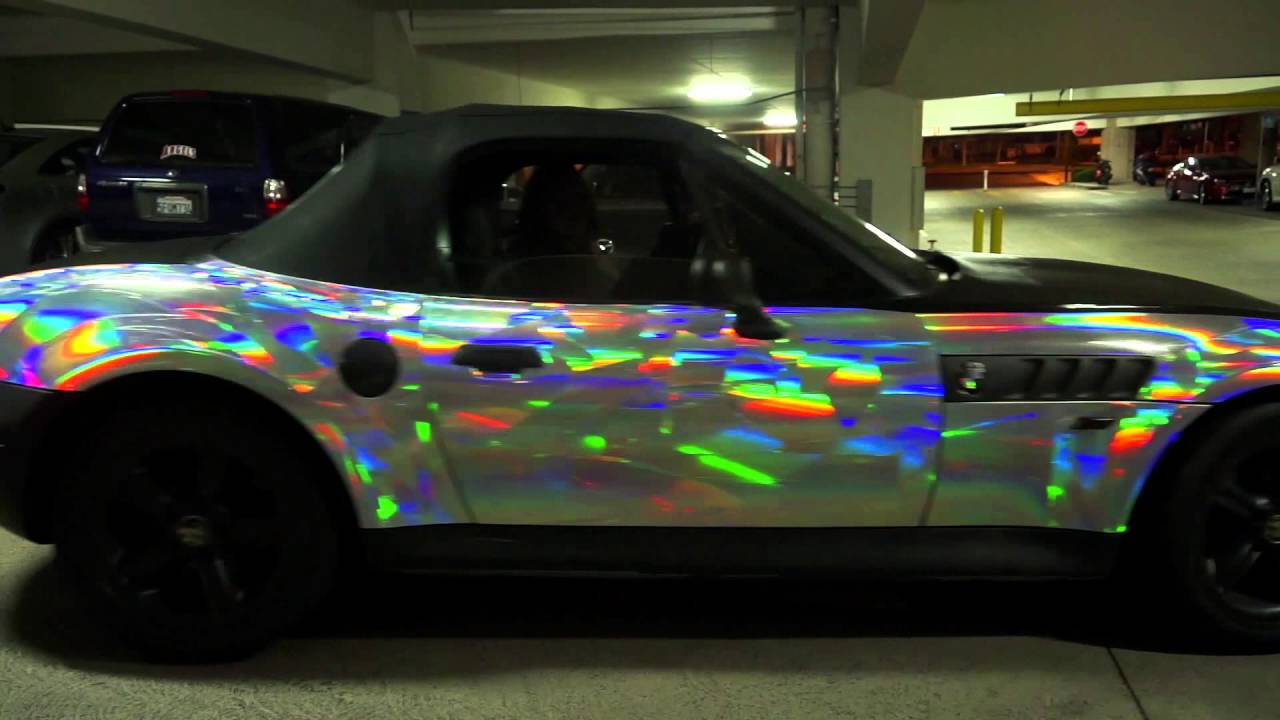 My Holographic Vinyl Wrapped BMW Z3 Roadster Convertible ...