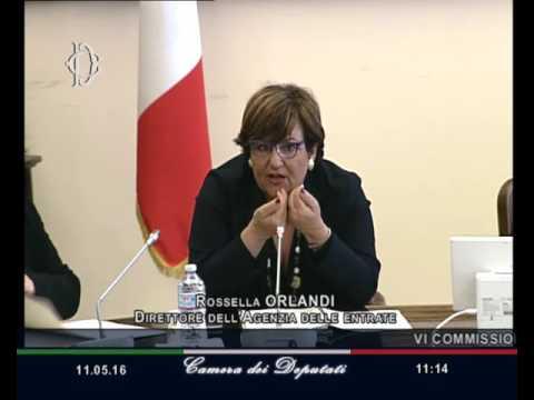 Roma - Operatività Agenzia Entrate, audizione Orlandi (11.05.16)