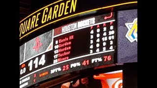 James Harden career-high 61 points seen live at Madison Square Garden