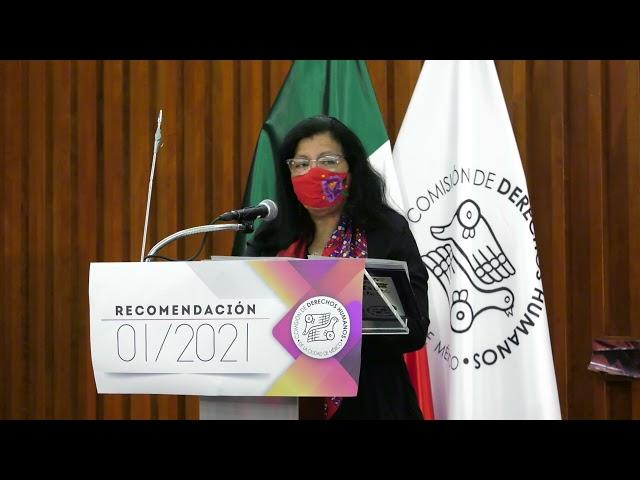 Discurso de la Ombudsperson capitalina, Nashieli Ramírez, en la Presentación Recomendación 01/2021