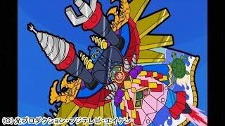 『新鉄人危機一髪!』(2013年10月5日放送) 敷島博士が鉄人にゴテゴテした装備をつけちゃった! 博士は得意げだけど・・・・・・前の鉄人の方...