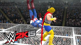 WWE 2K15 - Thor VS Captain America - HELL IN A CELL
