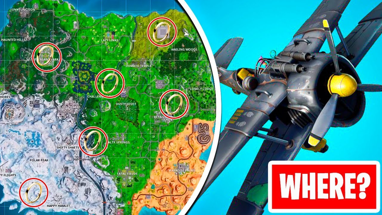 Fly Through Golden Rings In An X 4 Stormwing Plane Fortnite