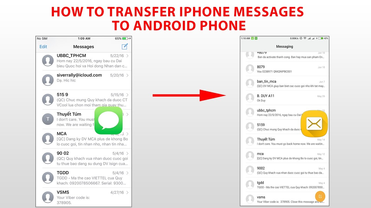 [Windows] How To Transfer iPhone Text Messages To Android Phone