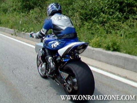 Custom Streetbike 300mm Rear Tire Motorcycle Yamaha V