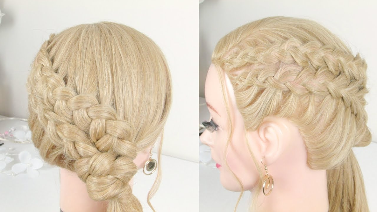 Braided Wedding Hairstyle .Ponytail With Braids For Long Hair - YouTube