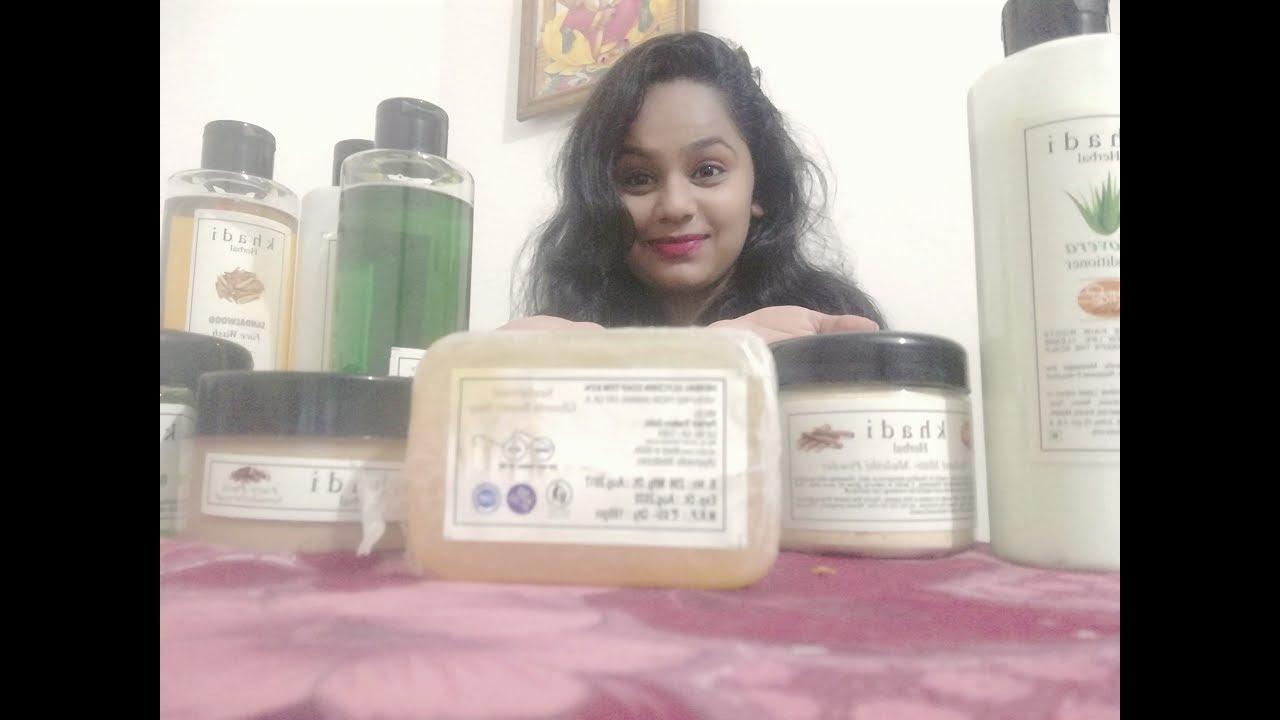 Khadi hair and skin care products mini haul