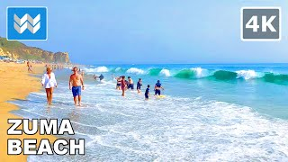 Zuma Beach in Malibu, California USA 2020 - Virtual Beach Walk 🎧 Relaxing Ocean Waves【4K】