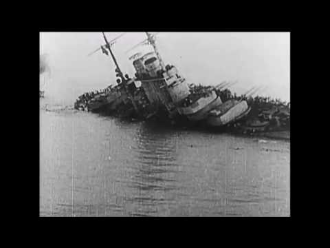 Sinking of the Austrian Battleship SMS Szent István 1918 WWI film