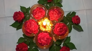 Diwali decoration ideas, how to decorate diya at home, DIY easy center piece ideas for party tables
