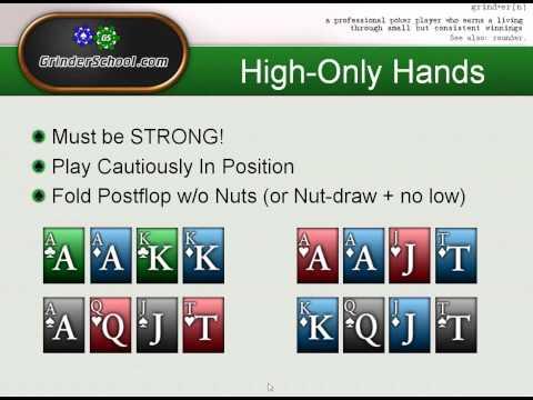 Grinderschool On Pot Limit Omaha Hi/Low Starting Hands