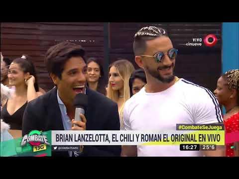 Brian Lanzelotta, El Chili y Roman El Original cantaron  en Combate